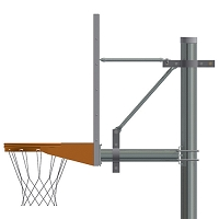 "4-1/2"" Straight Post (w/ Perf Steel Board - Playground Goal)"