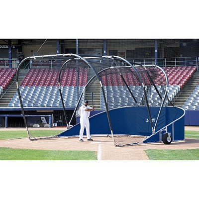 Big League Bomber Elite Batting Cage (Navy Blue)