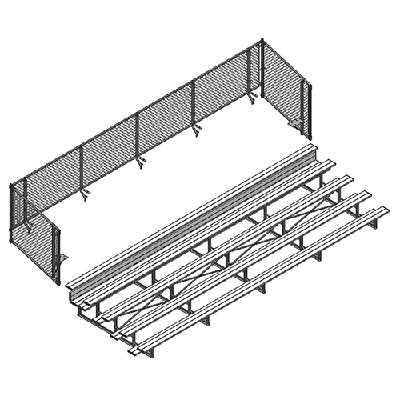 Universal Enclosure (5 Row - 27° Bleacher)