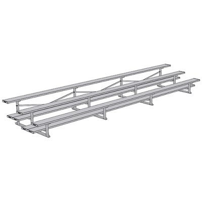 All Aluminum Bleachers (21' Double Plank - 3 Row)