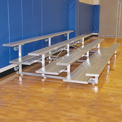 Tip & Roll Bleachers (21' Double Foot Plank - 4 Row)