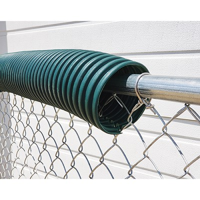 Poly-Cap Fence Top Protection (100' Forest Green)