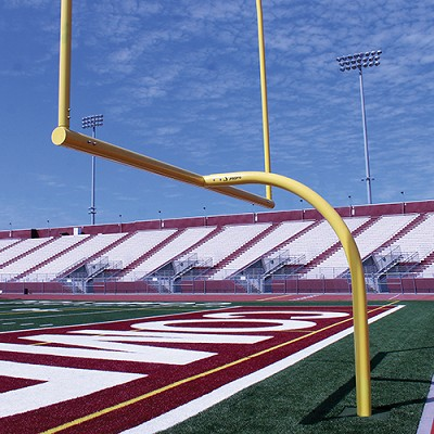 "MAX-1™ Football Goal Post (Leveling Plate - 6'Ox20'U - Collegiate 18' 6"" wide)"