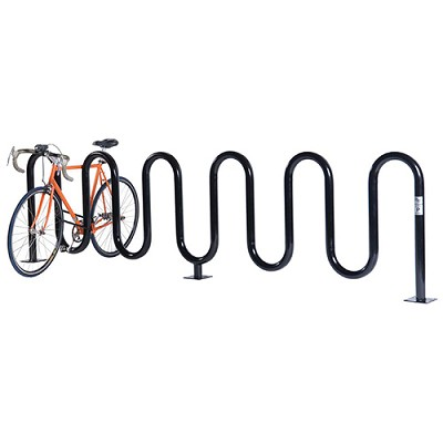 Wave Bicycle Rack (7 Capacity - Surface Mount - Powder Coated)