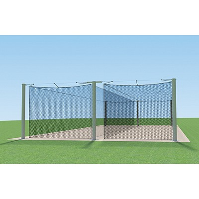 MEGA Outdoor Batting Tunnel Frame (55' - Double)
