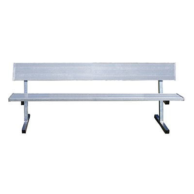 Player Bench (21' w/ Seat Back -  In-Ground Installation)
