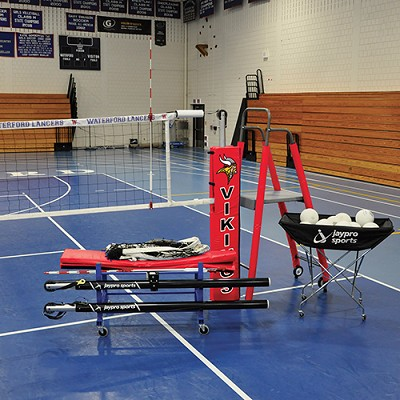 "Featherlite° Deluxe Volleyball System Package (3"")"
