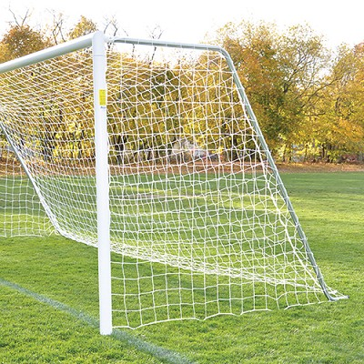 Classic Official Round Goal (Semi-Permanent Goal w/ Galvanized Steel Backstays)